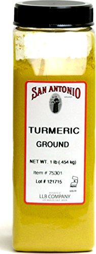1-Pound PREMIUM Ground Turmeric Root Powder by San Antonio