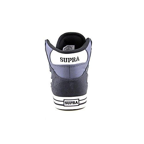 Supra VAIDER S28058 - Zapatillas de deporte de cuero para hombre Charcoal / white - white