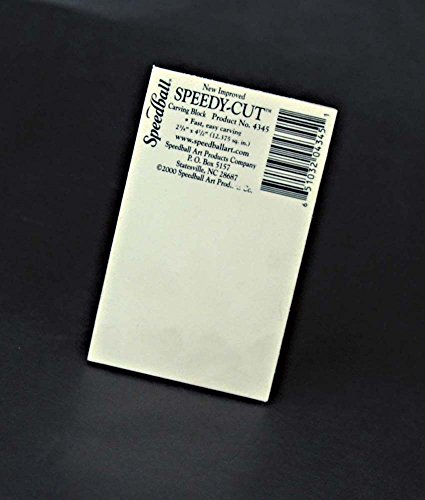 - Speedball 4345 Speedy-Cut Printing Block-Soft Rubber-Like Material Easy to Carve, 2.75 x 4.5 Inches