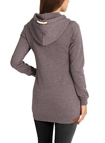 Sweat Desires 5710 Long Polaire Pour Zippé Doublure Capuche zip Femme Straight Mel Veste En À Sparrow shirt Vicky Sweat UwX4U