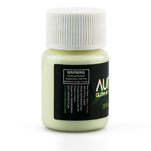 Glow in the Dark Paint, 0.68 oz (20ml), Aurora Bright Green, Non-Toxic,...