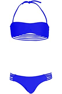 Mon Mini Twist Bikini Blanc 2 pièces Fille  Amazon.fr  Vêtements et ... 087a0f720a7