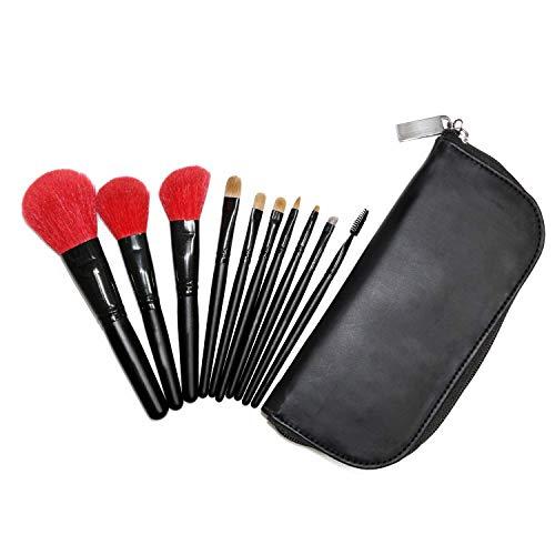 Wigs & Hairpieces Makeup Brush Set Premium Natural Bristles Kabuki Brush Set Eyeshadow Eyebrow Blush Eyeliner Lip Brushes 10 Pcs ()