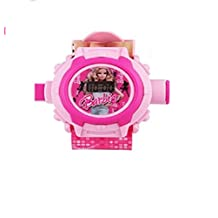 Kids Bazaar 24 images Barbie/ Princess Projector Watch for kids,Best for Birthday & Return Gift (Pink)