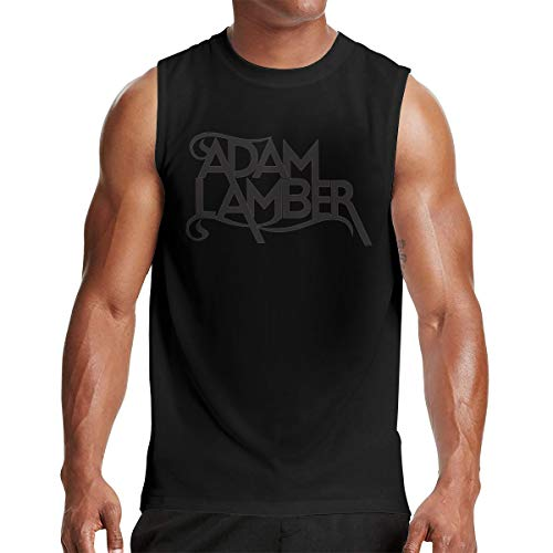 Adam Lambert Men Performance Muscle Sleeveless Shirt Tank Top M Black (Adam Lambert Best Performance)