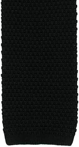 Black Silk Knitted Tie by Michelsons