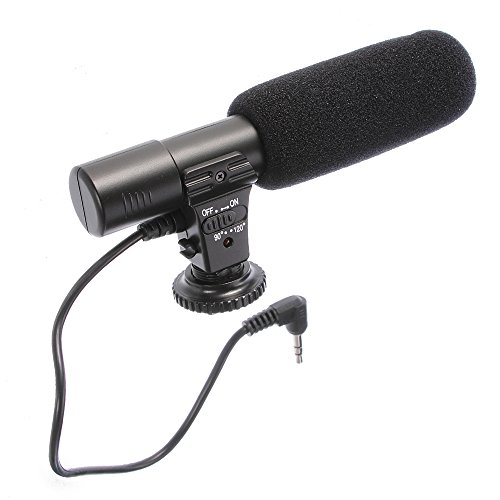 Fotga MIC-01 Digital Video DV Camera Professional Studio Stereo Shotgun Recording Microphone for Canon Nikon Panasonic Digital SLR Camera etc.