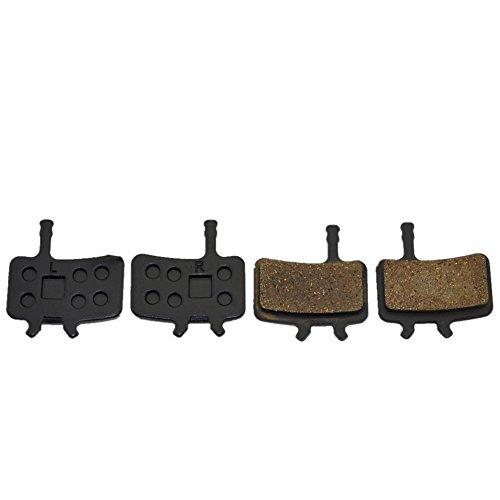 Bike Disc Brake Pads Juicy BB7 Disc Brake Pads Organic Semi-Metallic Disc Brake Pads With Spacer for Bikes Disc Brake System Smooth and More Powerful Braking Less Harsh Noise (Black) (BB7)