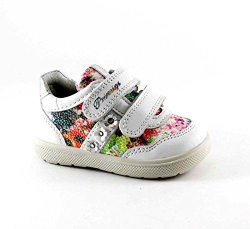PRIMIGI 75470 zapatos multicolores blancos bebé primero deportiva pasos inconvenientes Bianco