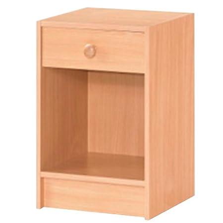 Simple bedside table nightstand beech amazon kitchen simple bedside table nightstand beech watchthetrailerfo