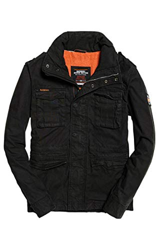 Classic Superdry bitter Nero Xbz Black Cappotto Jacket Military Uomo Rookie g6W6qZwd