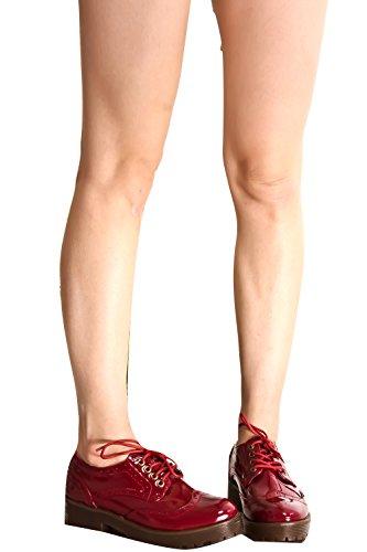 Accentuation Cloutée Jeune À Lenvers Lacée Décontractée Oxford Chaussures Plates Winpt-sofie-01