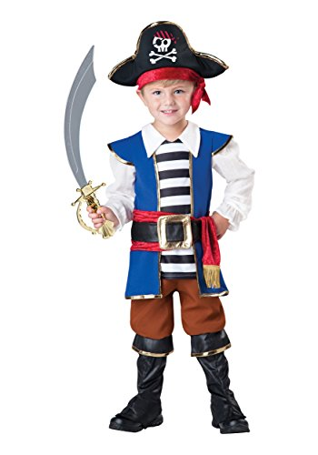 InCharacter Baby Boy's Pirate Boy Costume, Blue/Red, 3T by Fun World