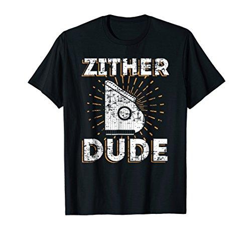 Zither Dude Retro Vintage Instrument T-Shirt