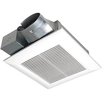 Panasonic Fv 10vs3 Whispervalue 100 Cfm Super Low Profile Ventilation Fan White Built In