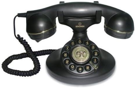 Brondi Vintage 10 - Teléfono fijo analógico, color negro: Amazon.es: Electrónica