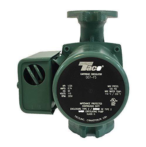 Taco 007-F5 Cast Iron Circulator, 1/25 HP ()