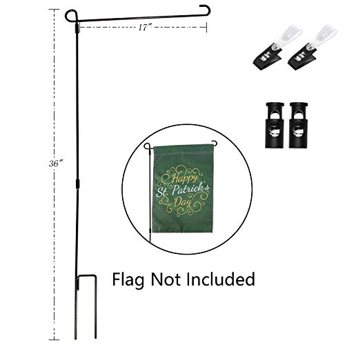 Yeeher Garden Flag Stand Holder for 12'' x 18'' Mini Flag Pole Only (Steel-01) by Yeeher
