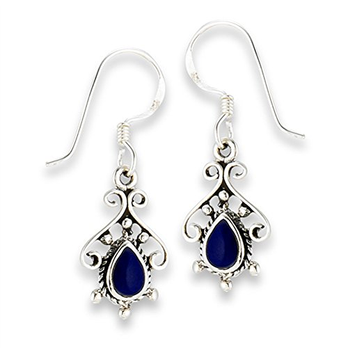 Rope Teardrop Filigree .925 Sterling Silver Scroll Fancy Bohemian Ornate Earrings