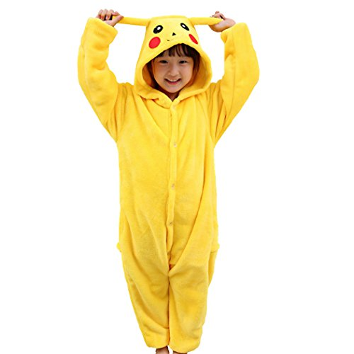 Children Pikachu Onesies Animal Cosplay Costume Halloween Xmas Pajamas Kigurumi