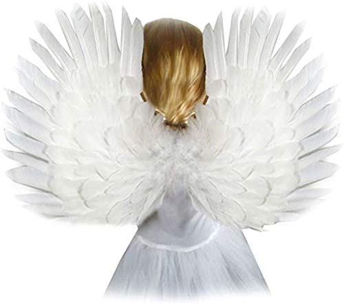 Small White Feather Angel Wings for kids, girls, or boys with Free Halo