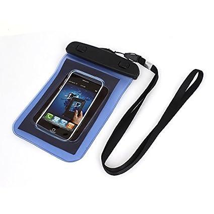 eDealMax Caso impermeable del teléfono móvil del bolso seco del Protector de la Bolsa Azul +