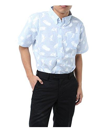 ツアーディビジョン メンズ ゴルフウェア ポロシャツ 半袖 シアサッカープリント半袖シャツ TD220101H04 SAX M