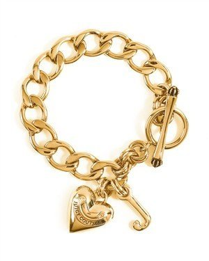 8fc2a846d56b Juicy Couture Gold Starter Charm Bracelet - Teenage Girl Size   Amazon.co.uk  Jewellery