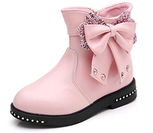 Autumn Winter Teenage Girl Glitter Princess Butterfly Knot Fur Pu Ankle Platform Warm Boots Pink Winter - Gift Canada Vouchers