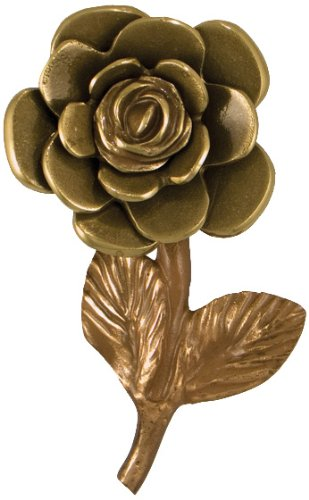 Yellow Rose Door Knocker - Brass/Bronze (Premium Size) by Michael Healy Designs