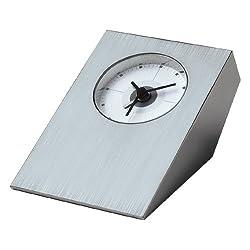Visol Tracker Brushed Nickel Desk Clock (Set of 6)