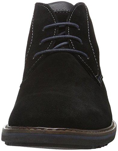 Sioux Enrik - botas de caña baja con forro cálido y botines Hombre Negro