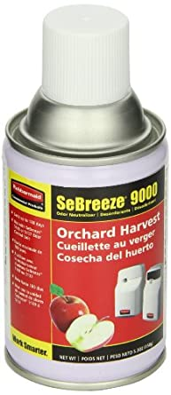 Rubbermaid Commercial FG5145000000 SeBreeze 9000 Aerosol Canister Refill for SeBreeze Odor Control Dispensers, Orchard Harvest