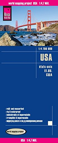 USA-EE.UU. Mapa de carreteras impermeable. Escala 1:4.700.000 Reise Know-How (Inglés) Mapa – Mapa doblado, 9 jun 2015 VV.AA. Reise Know-How Rump GmbH 3831772991 Gazetteers & Maps)