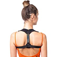 Back Posture Corrector for Women Men by UpperFit - Comfortable Posture Correct Back Brace for Slouching & Hunching - Clavicle Support for Shoulder, Upper Back & Neck Pain Relief with Kinesiology Tape