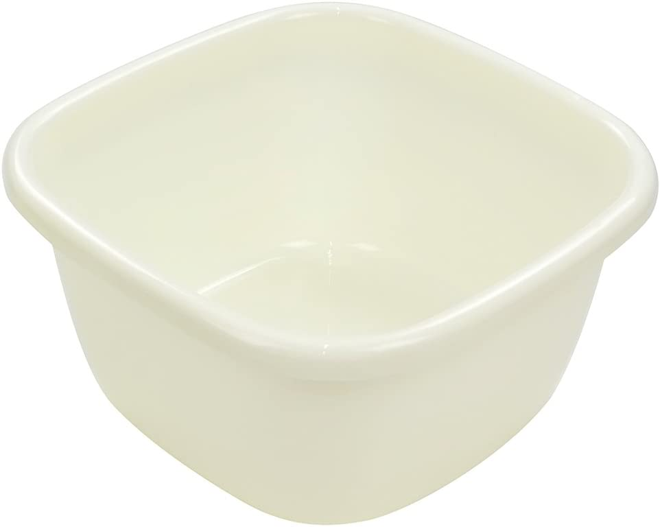 Ggbin Plastic Wash Basin, Large Plastic Tubs, Cream, 18 Quart (2 Packs)