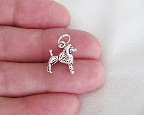 Pendant Jewelry Making/Chain Pendant/Bracelet Pendant Sterling Silver 3D Poodle Dog Charm