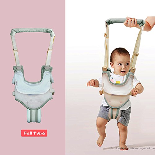 Dual Use Handheld Baby Walker,Safe Breathable Adjustable Baby Toddler Assistant Walking Harness for 8-15 Months Baby (Green) by Tanke (Image #3)