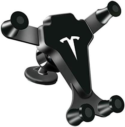 車の車の電話ホルダー空気出口携帯電話のフレーム重力誘導リンケージ携帯電話ホルダー (色 : 黒)