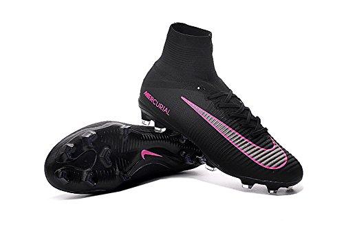 demonry Schuhe Herren Fußball Mercurial Superfly V FG schwarz Fußball Stiefel