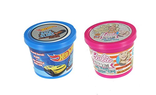 Barbie Hot Wheels - Hot Wheels Barbie Slime With Surprise Putty Stretch Squeeze Tub 90g 2 Pack