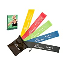 "Fitness Demon Top Rated Premium Resistance Loop Bands - Best Set of 5 Resistance Bands - 100% Natural Latex Stretch Elastic - Exercise Bands for Legs and Arms - BONUS Ebook and Online Videos (12"" x 2"")"