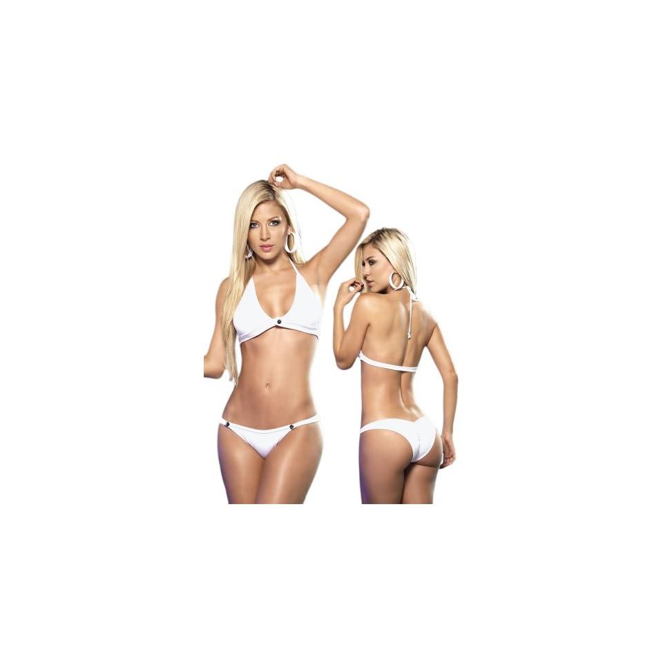 Sexy White Bikini or Dancewear Set   Large