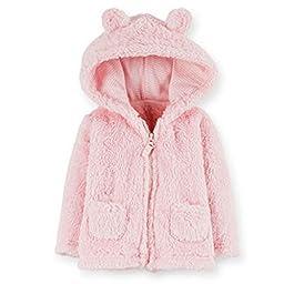 Carter\'s Baby Girls\' Sherpa Jacket (Baby) - Light Pink - 3 Months