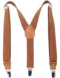 Children Boys Kids Adults Suspenders - Sturdy Metal Clips...