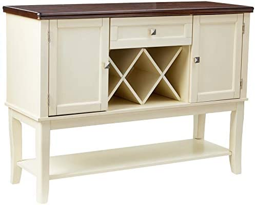 Furniture of America Macchio Transitional Dining Buffet Server, Cherry Vintage White