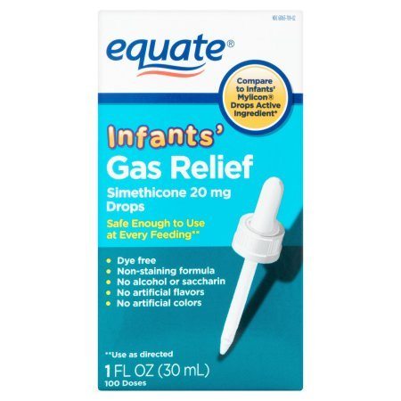 PACK OF 12 - Equate Non Staining Formula Infants' Gas Relief Drops, 1 fl oz by Equate (Image #2)