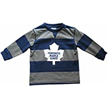 Toronto Maple Leafs Toddler Rugby Stripe Long Sleeve T-Shirt