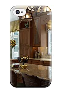 New Chris Bullock Super Strong Traditional Kitchen With Granite Countertops And An Island Tpu Case Cover For Iphone 4/4s