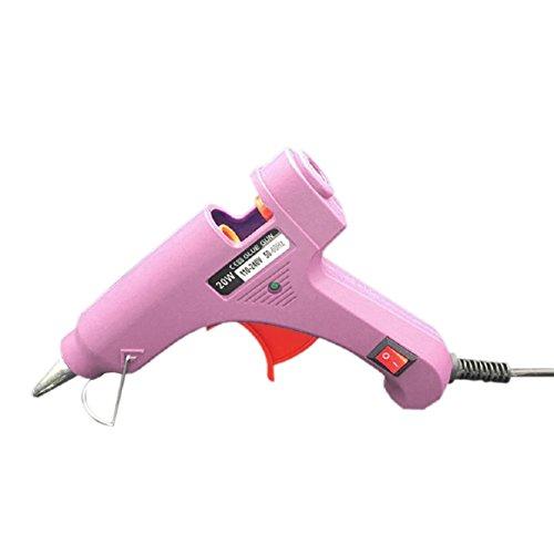 Hot Melt Glue Gun with 10pcs Glue Sticks for DIY & Sealing and Quick Repairs 20-watt by Coerni (Pink) by Coerni